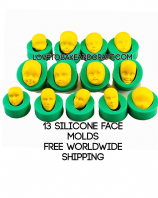 Fairy Face mold, Pixie face, Elf face, set of 13.  Free shipping